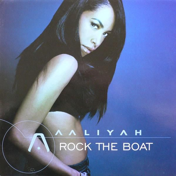 "Aaliyah – Rock The Boat 12"" Virgin – VUST 243, Blackground Records – 7243 5 46347 65"