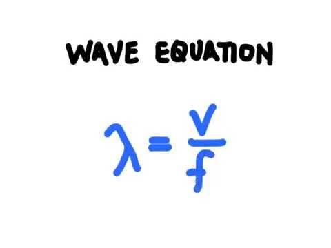 2.D) this video helps demonstrate how to manipulate the wave equation to solve for an unknown variable and to solidify the validity of a claim about the wave