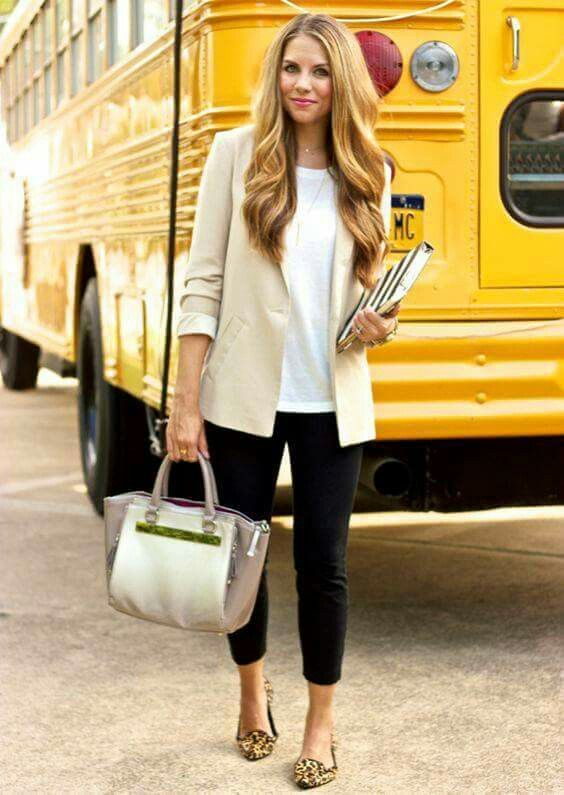 This would be a perfect work outfit - dark slacks, long lean top and classic jacket.