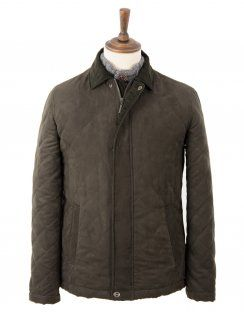 Drifter Soft Touch Quilted Jacket in Olive Green