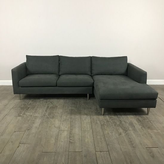Lovely Clean Lined Navy Sectional Sofa   Chicago, IL Https://www.marketsquarehome