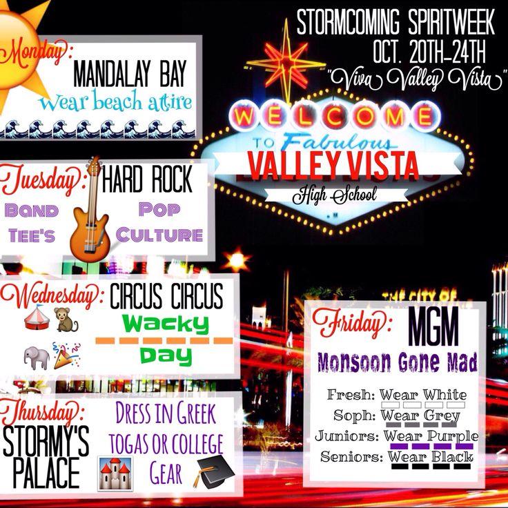 Vegas themed homecoming spirit week theme