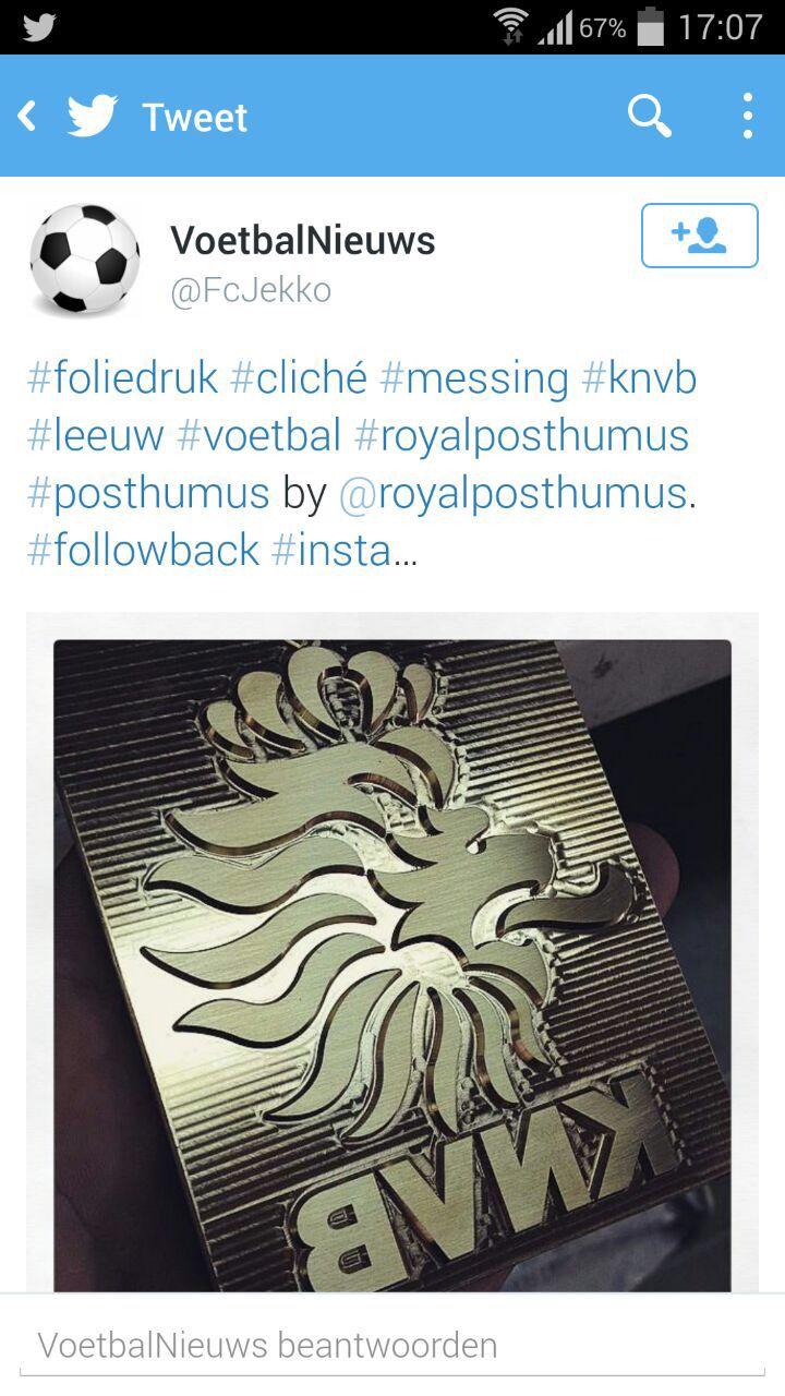 Ook op twitter #royalposthumus