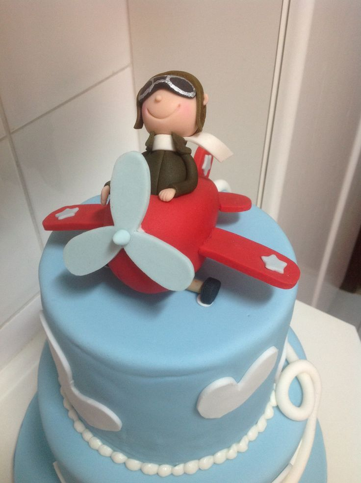 Airplane cake topper airplane cakes pinterest for Airplane cake decoration