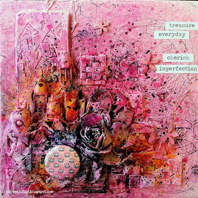 Treasure Everyday - Canvas with a TUTORIAL - blejtram i kurs November 2013