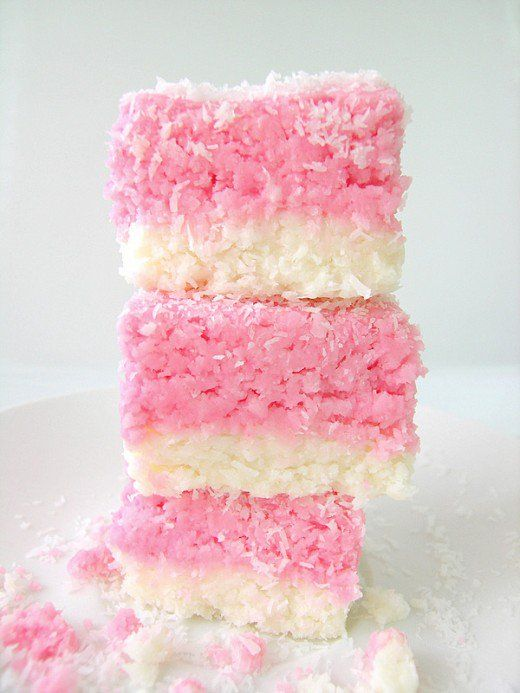 Coconut ice is a traditional British candy, very retro and kitsch looking - but delicious and easy to make at home!