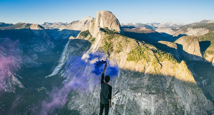 🔝 New free photo at Avopix.com - Person Waving With Blue Smoke in the Top of the Mountain during Daytime    🆓 https://avopix.com/photo/33965-person-waving-with-blue-smoke-in-the-top-of-the-mountain-during-daytime    #canyon #valley #landscape #mountain #rock #avopix #free #photos #public #domain