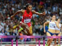 Lashinda Demus takes a close second in 400m hurdles.