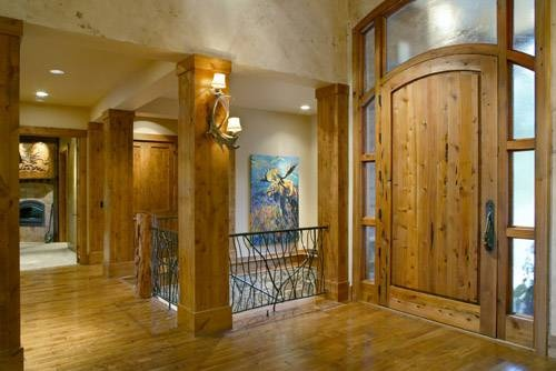 This rustic entry is part of Plan 1411 - and is absolutely wonderful.