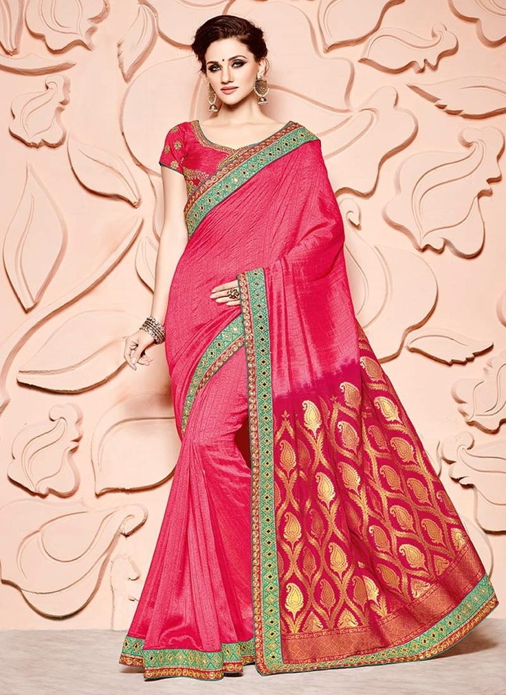 Indian ethnic wear online shopping site. Buy wedding designer sarees. Shop this exceeding banarasi silk classic designer saree for festival, party and wedding.