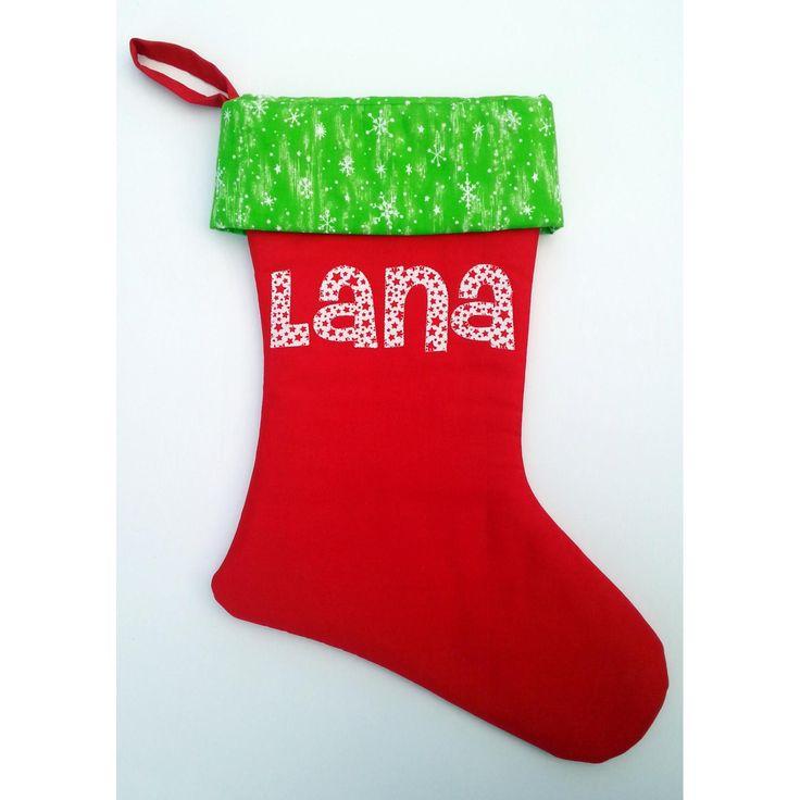 $35.00 Personalised Christmas Stocking by TwoLittleMonkeys on Handmade Australia