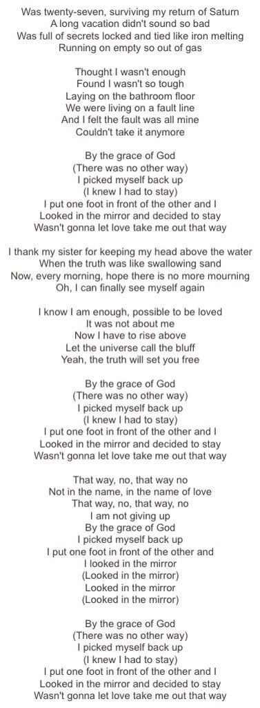 By The Grace of God- Katy Perry