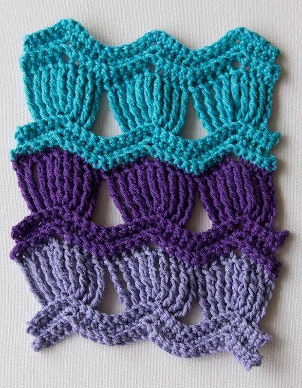 Encantador Chatarra Patrón De Crochet Afghan Componente - Manta de ...