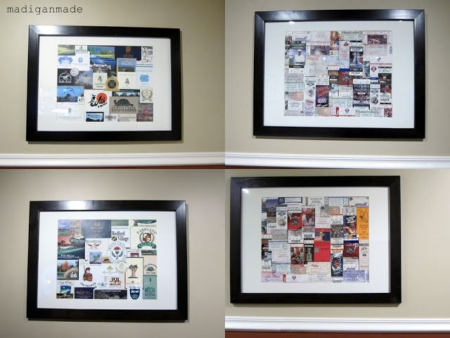 """Turn sporting event tickets into framed """"art"""" ~ Madigan Made { simple DIY ideas }"""