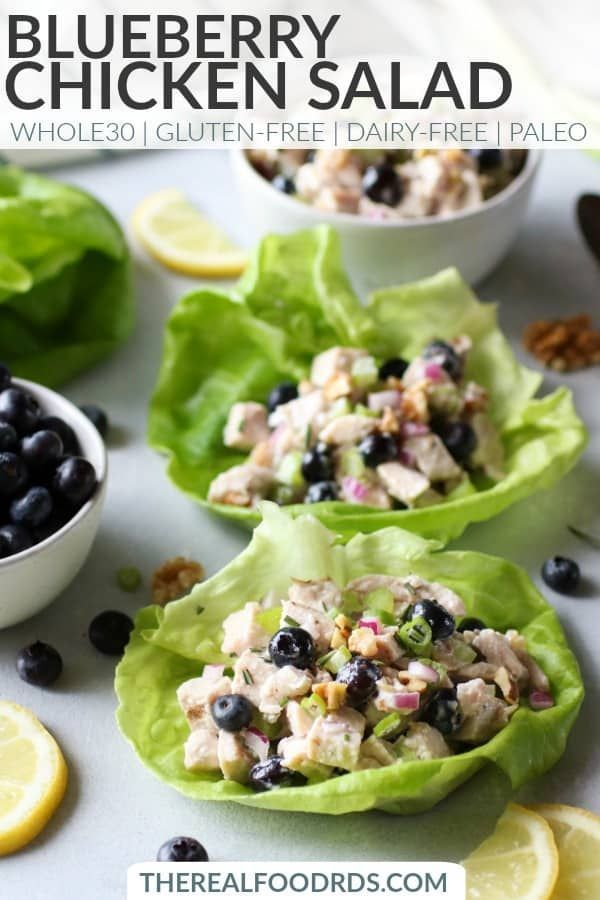 Blueberry Chicken Salad With Rosemary The Real Food Dietitians Recipe Recipes Salad Recipes Healthy Lunch Leftover Chicken Recipes