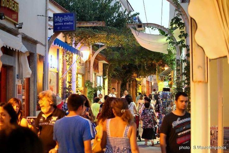 street market in Myrina