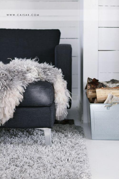 Sheepskin: Decor Rooms, Decor Ideas, Home Interiors, Living Rooms Design, Design Ideas, Home Design, Modern Houses, Grey Texture, Design Home