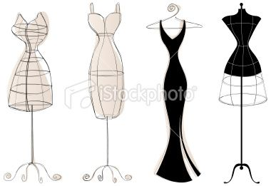 Adorable dress forms for inspiration for icons or logo.