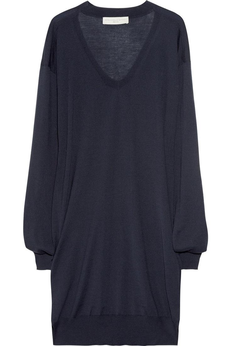 STELLA MCCARTNEY  Fine-knit cashmere-blend sweater dress
