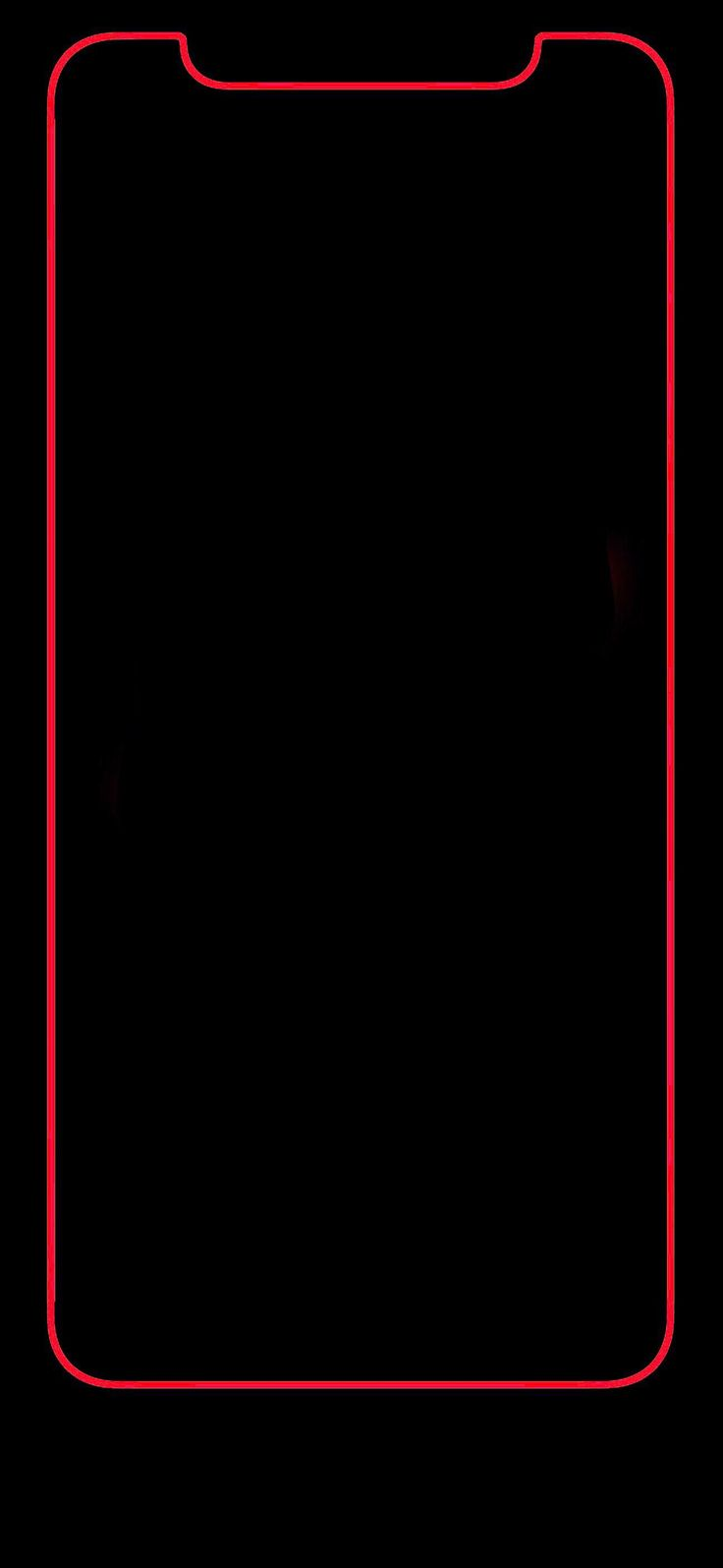 iPhone X red bold border looks great :)