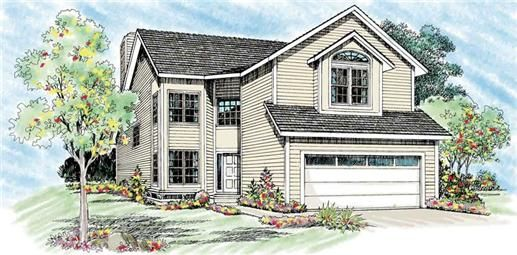 New American home plan featuring: built in entertainment center, open kitchen, and family/living are open to
