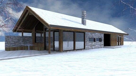 Arkitekttegnet hytte med solrik beliggenhet på Solhovda, Kikut