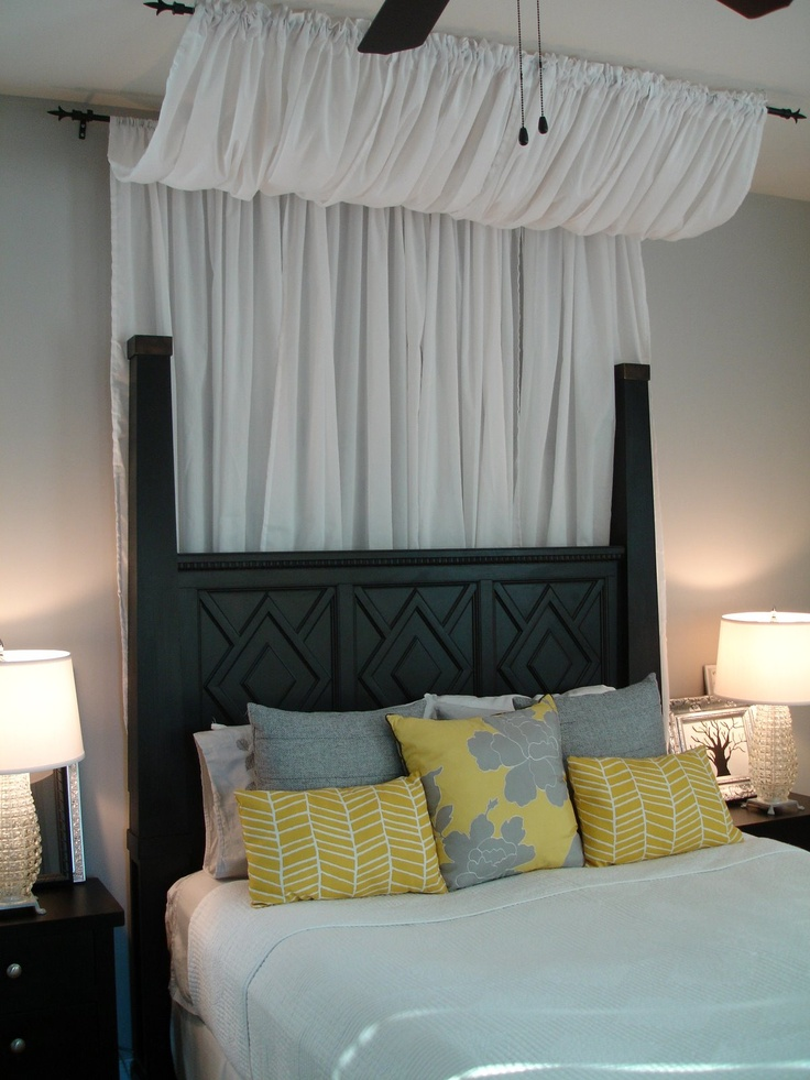 Tutorial on how to make the curtain canopy- super easy... a definite maybe for the master.