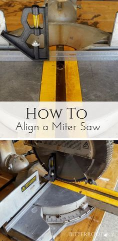 How to Align a Miter Saw beginner woodworking, miter saw #woodworking #diy #mitersaw