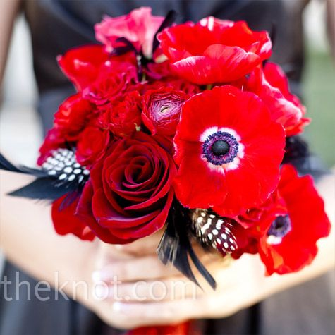 http://www.theknot.com/weddings/photo/red-bridesmaid-bouquet-93497