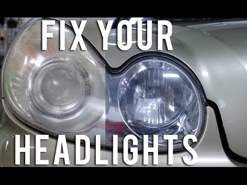 How to Restore your Headlights (crystal clear) - YouTube