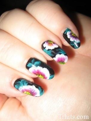 Spring Inspired Nails by Amber    curves Stumbleupon.comNails Art, Polish Ideas, Nails Design, Flower Nails, Beautiful Ideas, Nails Ideas, Nails Polish, Amber Curves, Spring Inspiration Nails