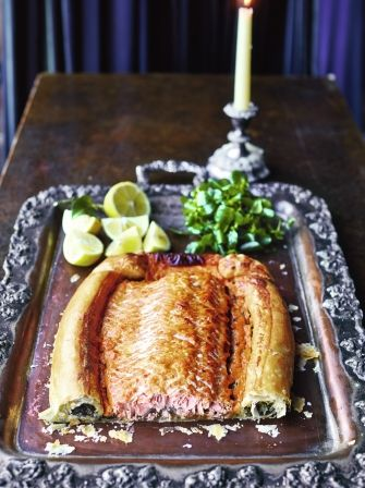 Salmon en croûte - make sauce ahead