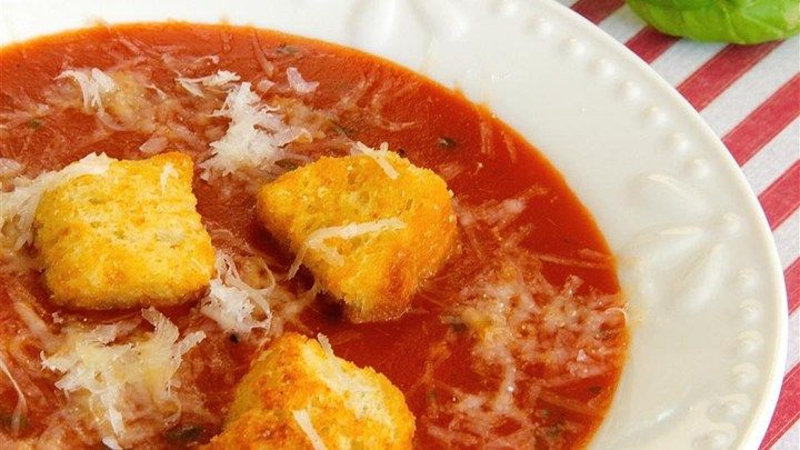 This quick and easy tomato basil soup is perfect on a weeknight with a grilled cheese sandwich.