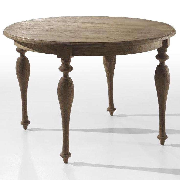 Antique Turning Legs Round Table