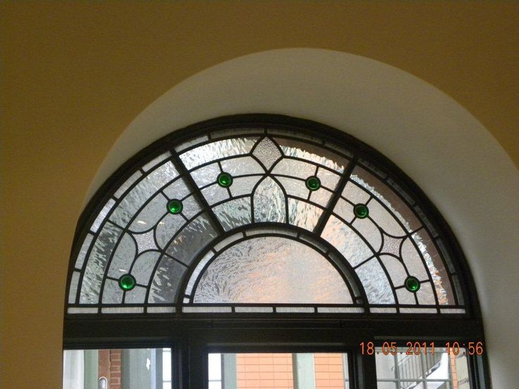 semi circle stained glass windows - Google Search
