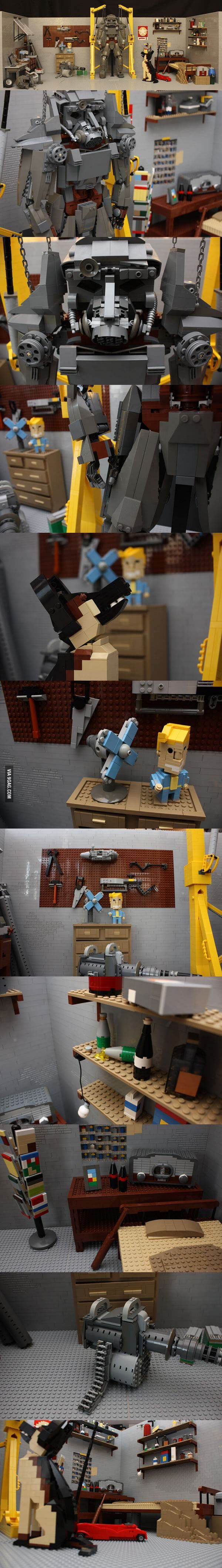 Fallout 4 Lego - Power Armour and Dogmeat