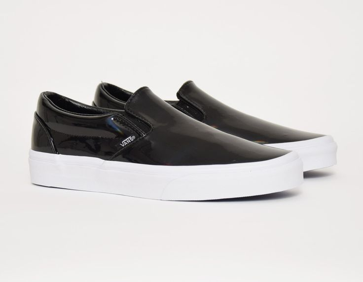 Vans Black Leather Fashion Sneakers Patent Leather Vans Leather