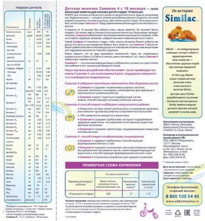 Similac (Abbott) 4 (с 18 месяцев) 2х350 г  — 279р. ------------- Детское молочко Similac 4 с 18 мес. 2х350 г. Сухой молочный напиток для детей раннего возраста без пальмового масла. Для полноценного развития малыша до его третьего дня рождения. Содержит пребиотики, способствующие формированию мягкого стула. Без пальмового масла - нежно воздействует на кишечник, способствует формированию мягкого стула и более высокому усвоению кальция. Напиток специально разработан для хорошего усвоения…