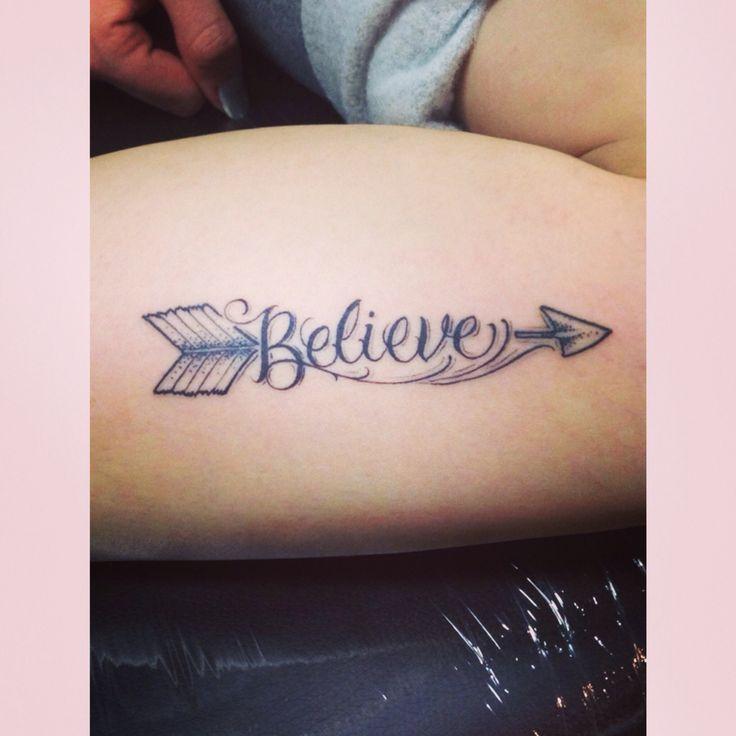 believe and arrow tattoo i love it tattoo ideas pinterest arrow tattoos lettering and i. Black Bedroom Furniture Sets. Home Design Ideas