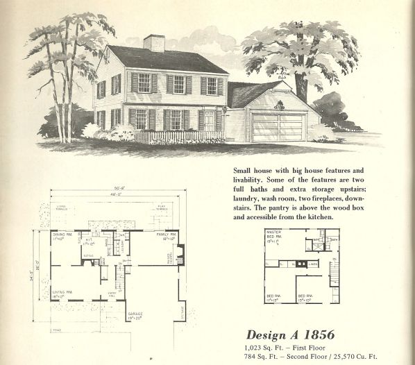 Vintage House Plans Early Colonial Vintage House Plans Vintage House House Plans