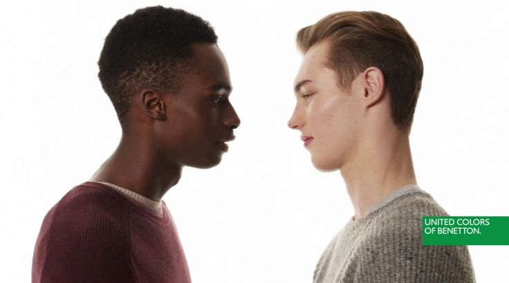 Bakay Diaby and Kit Butler in campaign ad for United Colors of Benetton