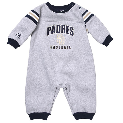 San Diego Padres Newborn Rib Insert Coverall by Majestic AthleticSan Diego Padre