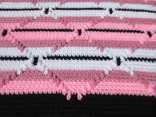 Crochet Navajo Stitch : navajo indian afghan 3 free pattern more afghans crocheted crocheted ...