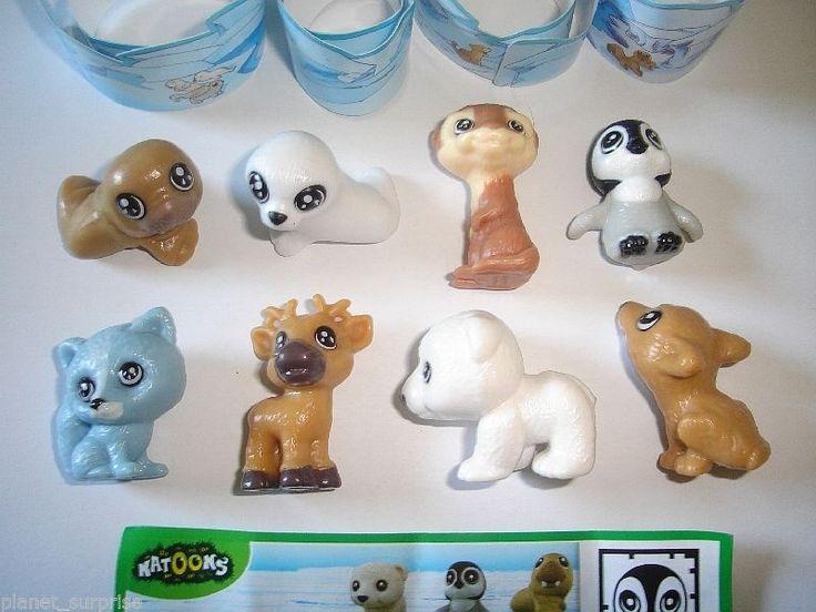Kinder Surprise Set Natoons Polar Animals Babys 2011 Figures Collectibles | eBay