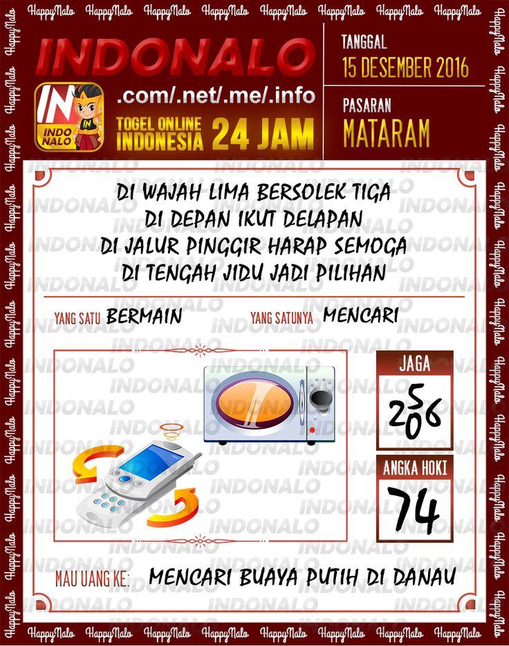 Tafsir Lotre 2D Togel Wap Online Live Draw 4D Indonalo Mataram 15 Desember 2016