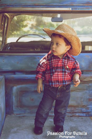 Toddler Boy Blue Truck 56 Chevy Truck Cowboy Hat Blue