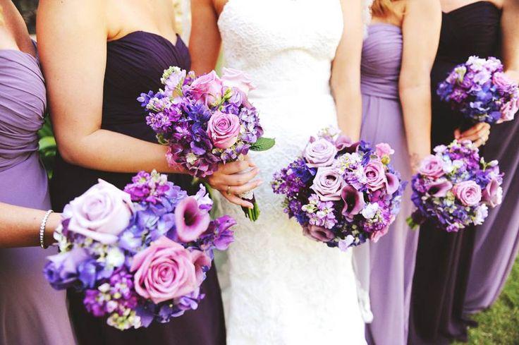 Purple wedding flowers @Rlovefloral. #Purple Weddings // Aisle Perfect