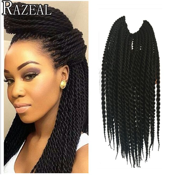 12in 30Roots Crochet Braid Small Havana Mambo Twist Hair Extensions Senegalese Twist Box Braid Hair Styles Black Women