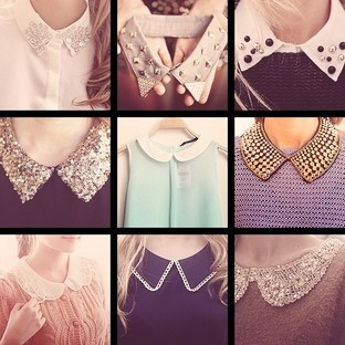 These collars would dress up any blah sweater. Cute!