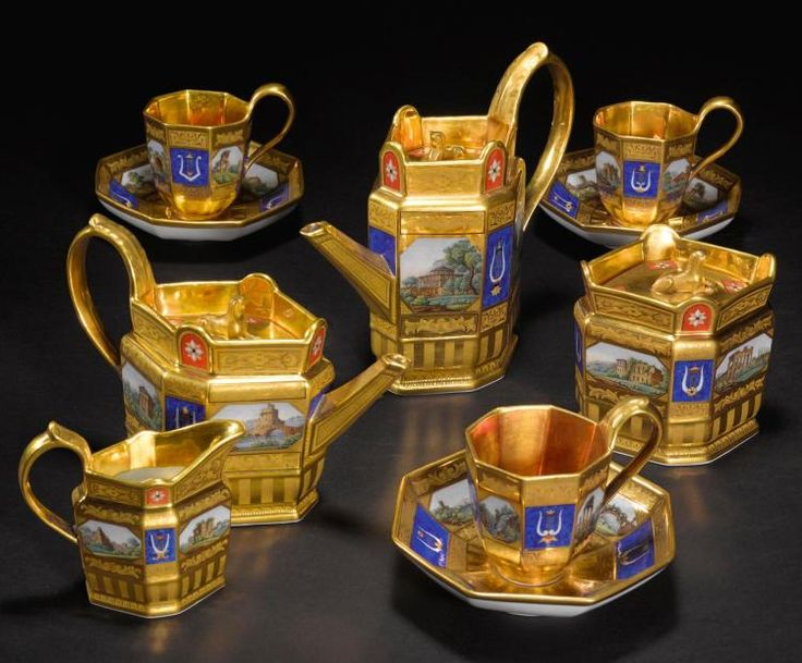 A BERLIN (K.P.M) PORCELAIN 'MICRO-MOSAIC' TEA AND COFFEE SERVICE, CIRCA 1823-32 |